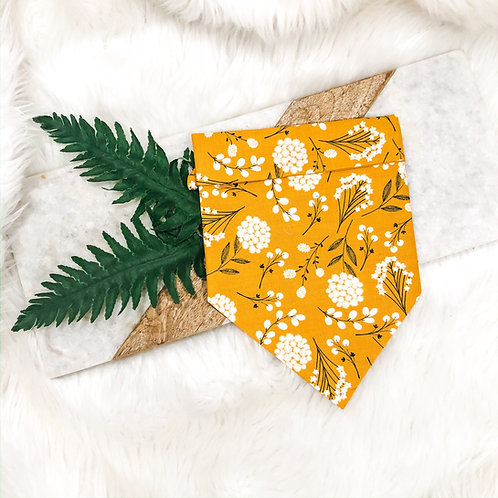Golden Floral Bandana