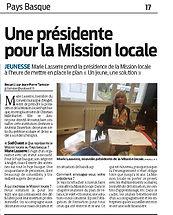Une présidente pour la mission locale S