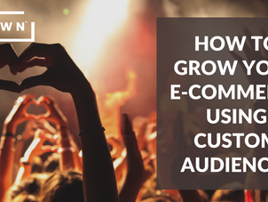 HOW TO GROW YOUR E-COMMERCE USING CUSTOM AUDIENCES