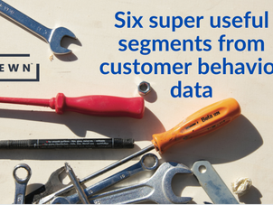 Six super useful segments from customer behavior data