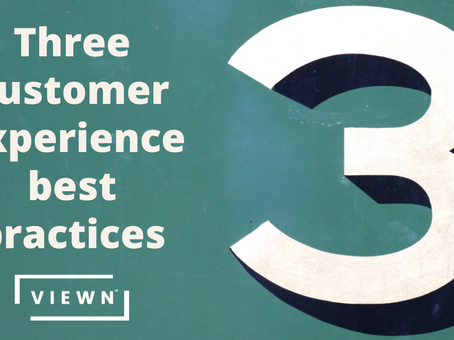 Three customer experience best practices