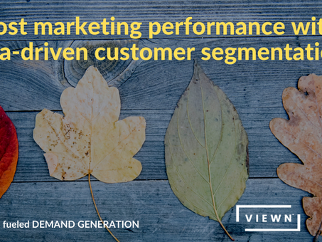 Boost marketing performance with data-driven customer segmentation