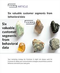 Six valuable segments from behavioral da
