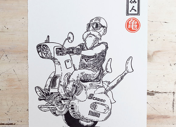 Print Dragon Ball Roshi
