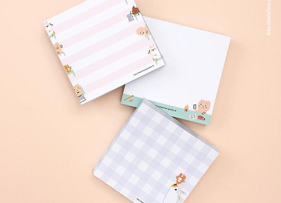 Taco de papel Happy Notas