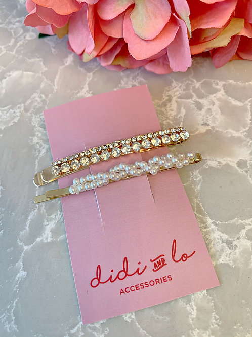 Gold and Pearl Clips