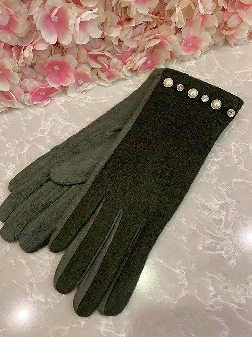 Jeanie Gloves Khaki