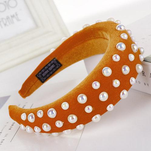 Pearl Headband Orange