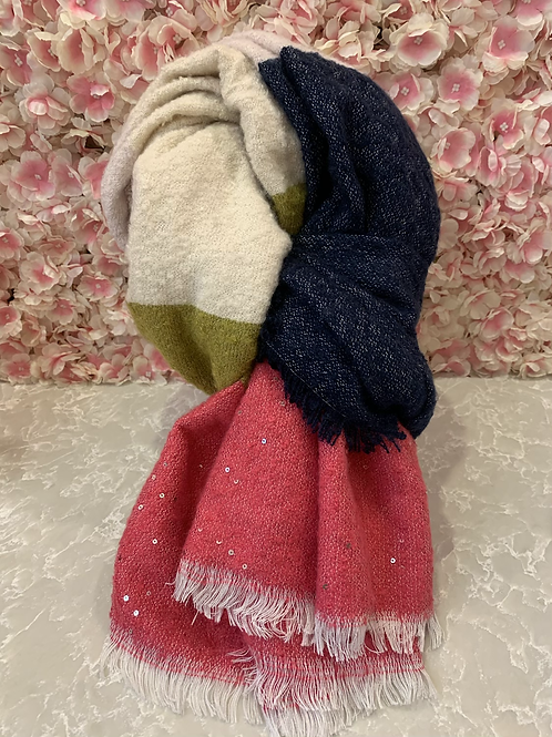 Nicole Scarf Hot Pink