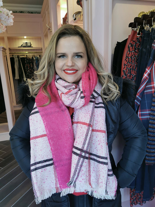 Check Scarf Pink