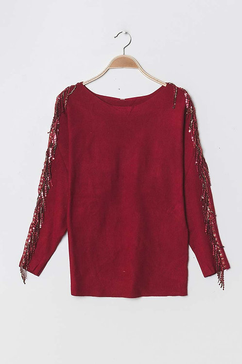 Wine Sparkle Jumper