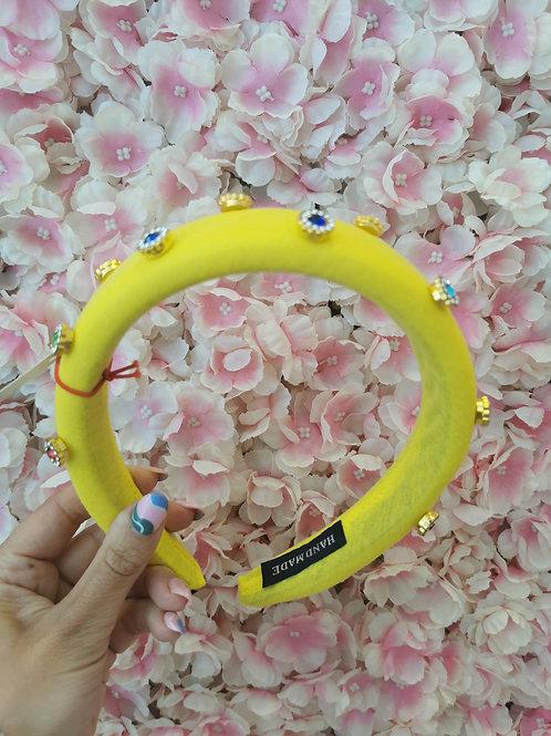 Crystal Hairband Yellow