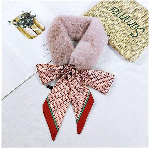Emily Faux Fur Collar Pink