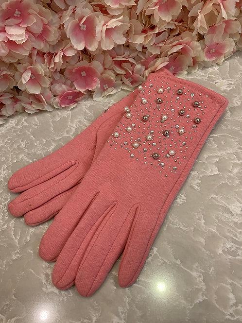 Selena Gloves Pink