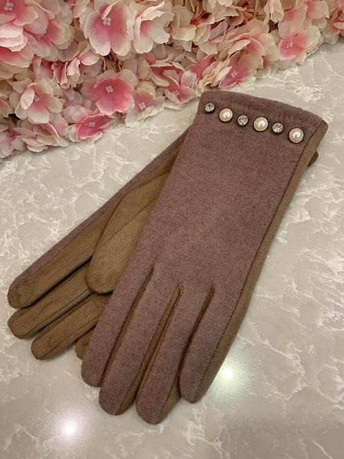 Jeanie Gloves Beige