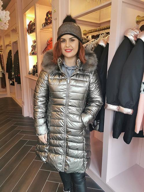Riley Coat Silver