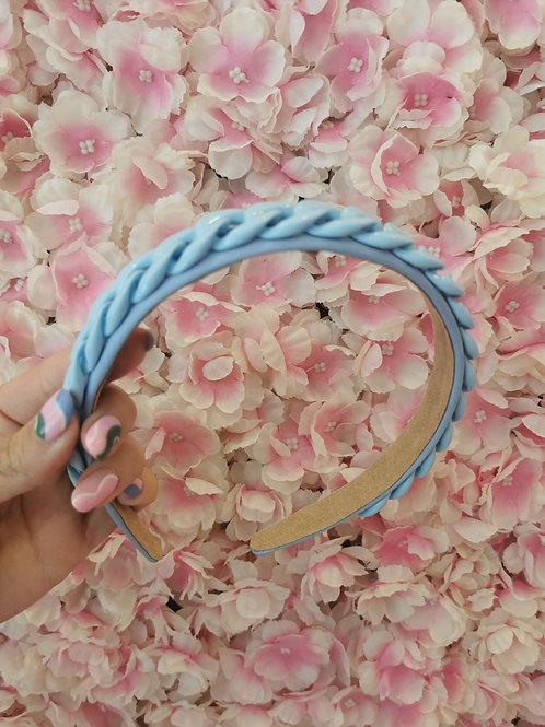 Chain Hairband Blue