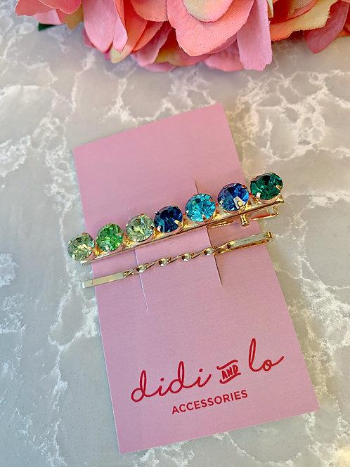 Green Diamante Clip