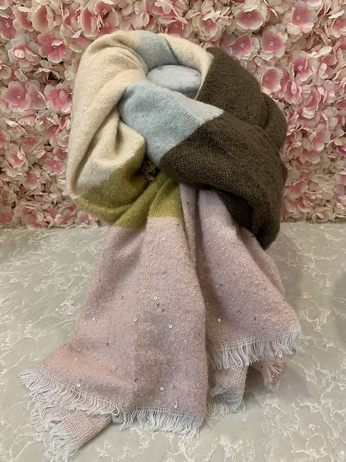 Nicole Scarf Pale Pink