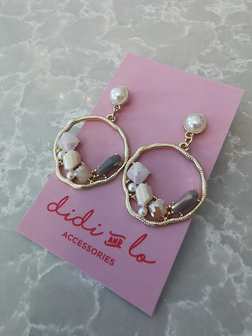 Erika Earrings Grey