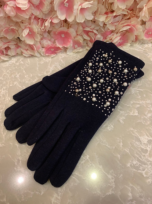 Selena Gloves Navy