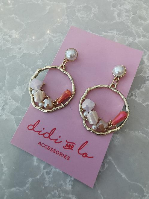 Erika Earrings Coral