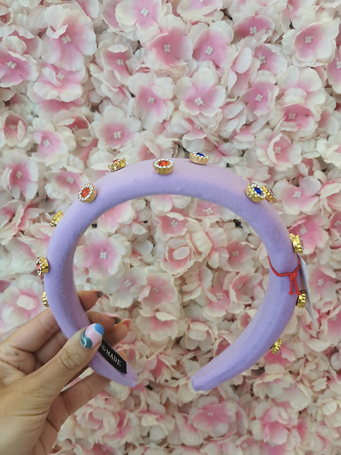 Crystal Hairband Lilac