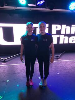Abigail Bartlett and Scarlett Clephan at Phil Winston Theatre Works Summer School