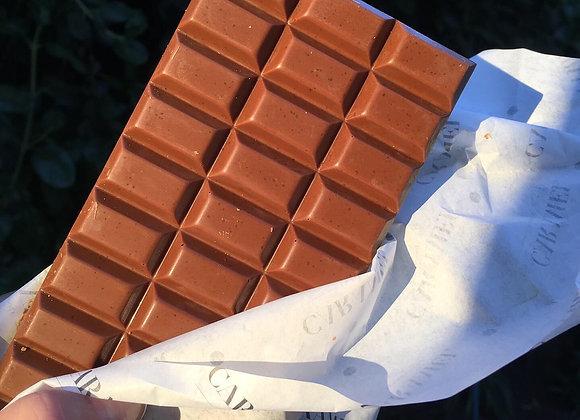 Tableta de chocolate de Leche puro 80 gr