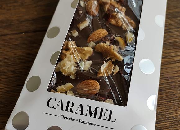 Tableta de chocolate Leche y frutos secos 90 gr