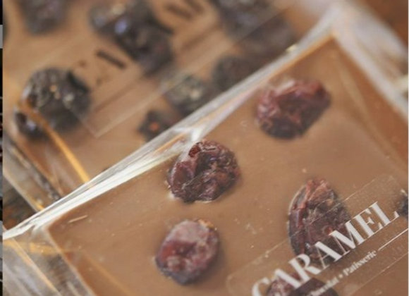 Tableta de chocolate con cranberries