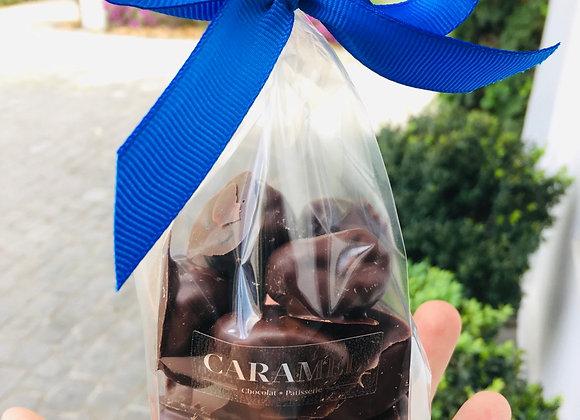 Ciruelas bañadas en chocolate bitter VEGANO 150 gr