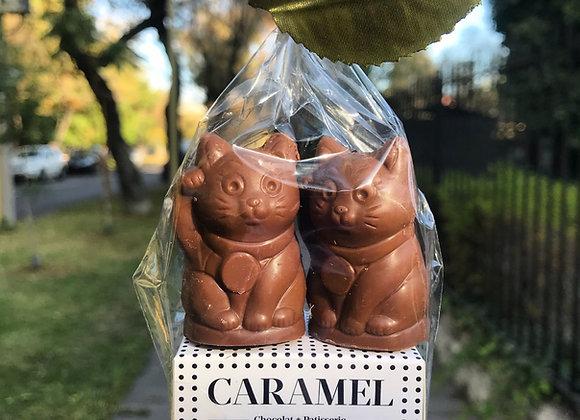 2 Gatitos de la suerte 🍀 rellenos de Nutella