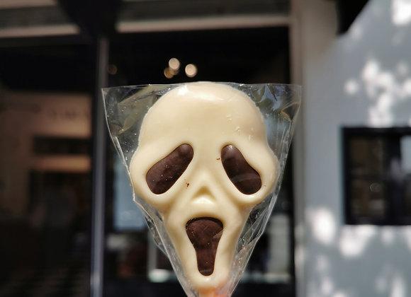 Paleta scream de chocolate blanco 👻