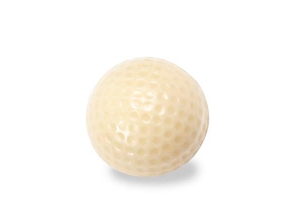 1 pelota de golf rellena de avellana crocante ( tamaño real)