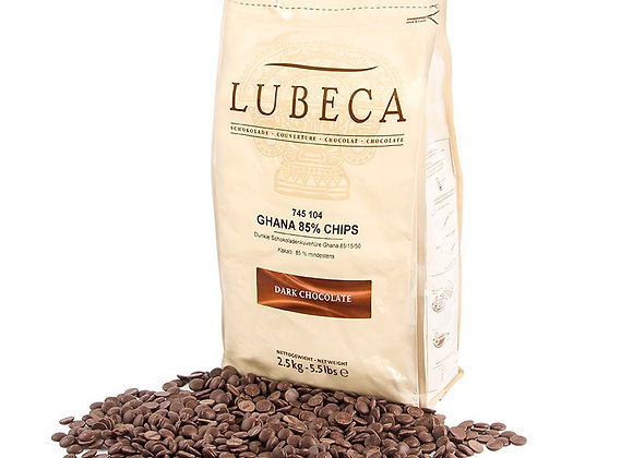 85% cacao 2,5 kg chocolate de Ghana elaborado en Alemania