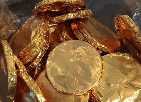 3 Monedas de chocolate de leche