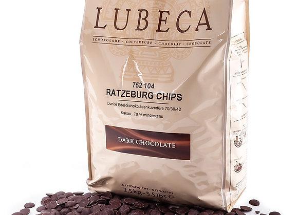 70% cacao 10 kg de chocolate de Costa de Marfil elaborado en Alemania