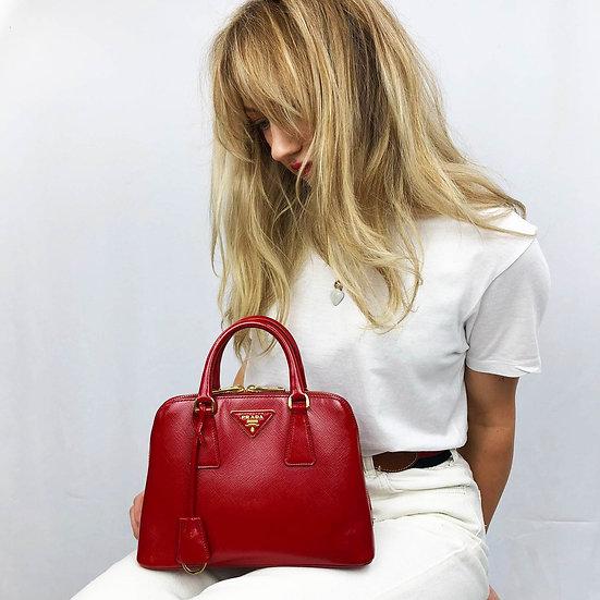 Prada Saffiano Lux Patent mini handbag