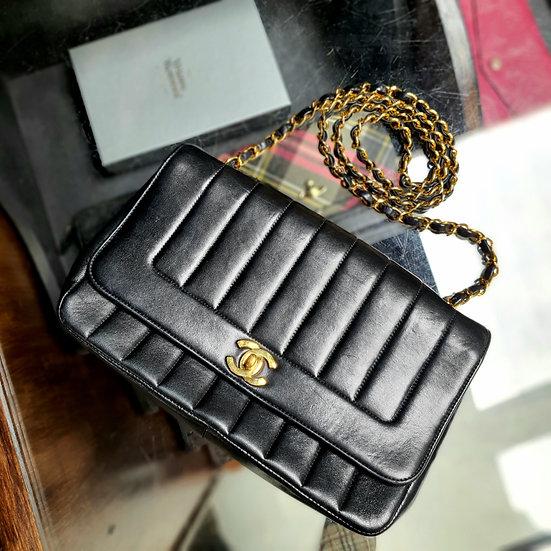 Vintage 1990s Chanel Mademoiselle Flap Bag