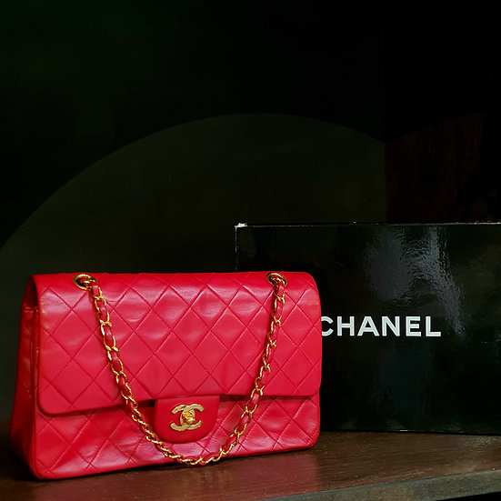 Chanel Double Flap 2.55 Medium Red