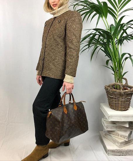 Valentino Zip Tweed Blazer
