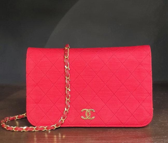 Chanel 1986 Cotton Single Flap