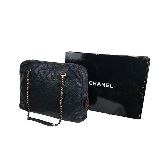 1980s Chanel Grande Camera Bag Precursor