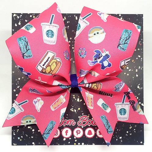 Hot Pink Stickers Bow