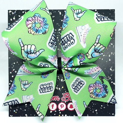 Lime Stickers Bow