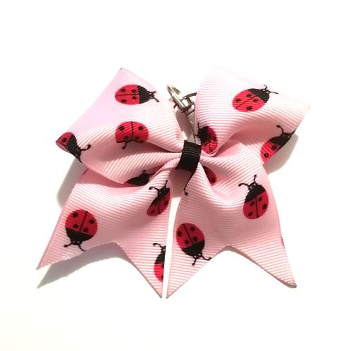 Lady Bug Key Chain Bow