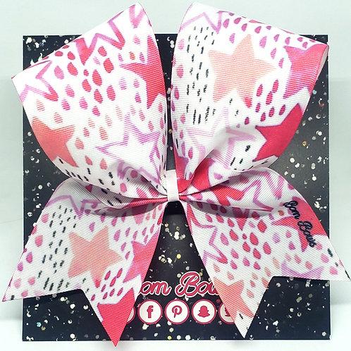 Pink Stars Bow