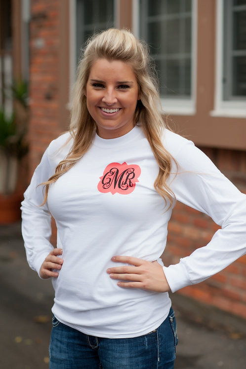 Small Monogram Long Sleeve Tee