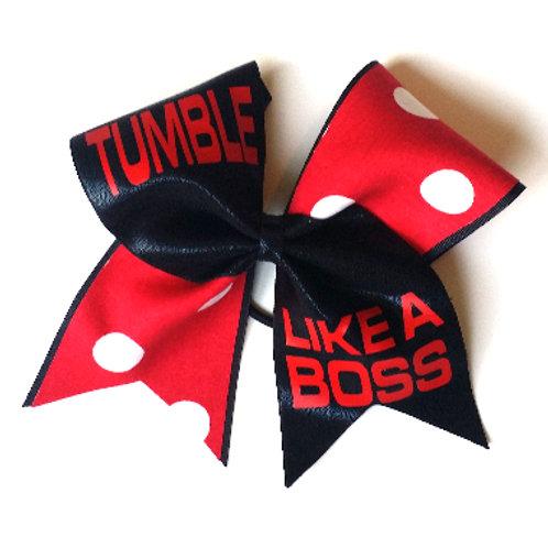 Tumble Like A Boss Bow (Customize!)